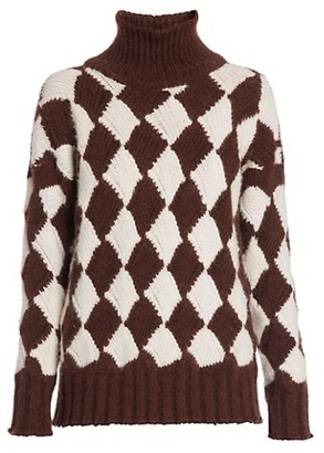 Plan C Harlequin Turtleneck Sweater