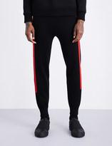 Neil Barrett Contrast-stripe waffle-knit low-rise wool jogging bottoms