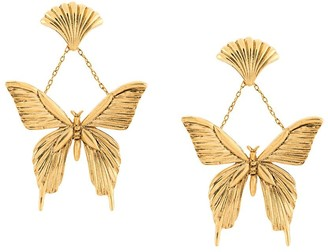 Oscar de la Renta Butterfly Drop Earrings