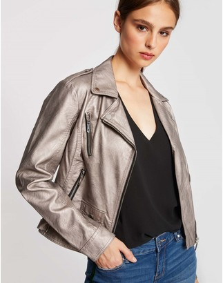 Morgan Faux Leather Zipped Jacket