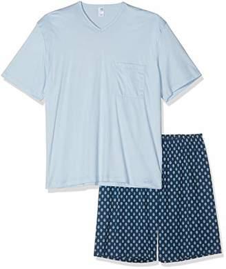 Calida Men's Relax Streamline 4 Pyjama Set, (Lavender Grey 352), Small