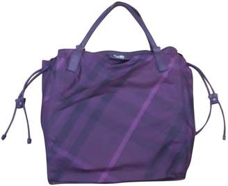 Burberry Purple Synthetic Handbags
