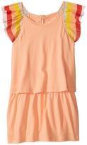 Chloe Kids - Rainbow Ruffles Short Sleeve Dress From Adult Collection Girl's Dress