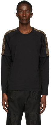 Fendi Black FF Double Sleeve T-Shirt