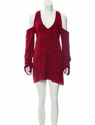 Amiri Silk Cold Shoulder Dress w/ Tags Red