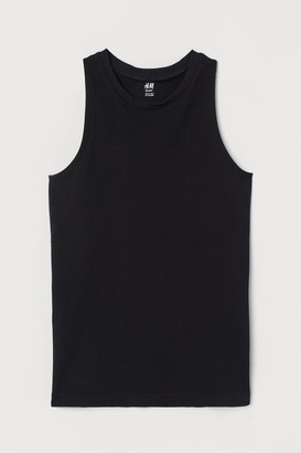 H&M Seamless Sports Top - Black