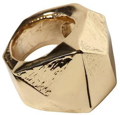 Rachel Zoe Hive & Honey Faceted Gold Ring