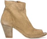 Officine Creative snakeskin-effect open toe ankle boot