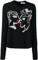 MSGM embroidered detail top - women - Polyester/Spandex/Elastane/Viscose - 44