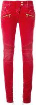 Balmain skinny biker jeans - women - Cotton/Spandex/Elastane - 38