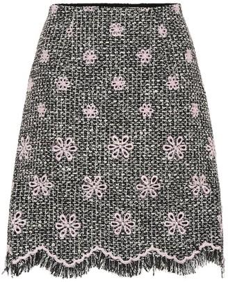 Giambattista Valli Floral tweed miniskirt