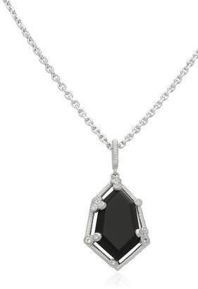 Judith Ripka Sterling Silver Martinique Organic Stone Pendant Necklace