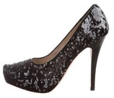 Jean-Michel Cazabat Sequin-Embellished Platform Pumps
