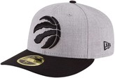 New Era Men's Heathered Gray/Black Toronto Raptors Two-Tone Low Profile 59FIFTY Fitted Hat