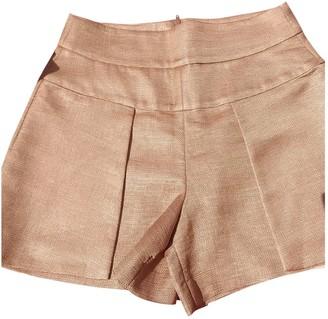 Tara Jarmon Gold Cotton Shorts for Women