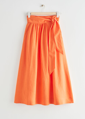 And other stories Belted Midi Wrap Skirt