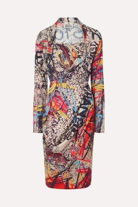 Vivienne Westwood Grand Fond Printed Jersey Dress - Red