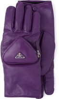 Thumbnail for your product : Prada Zipped Pouch Short Gloves