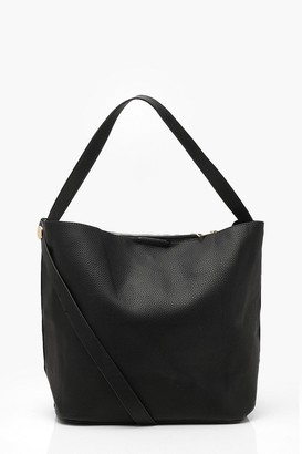boohoo Bucket Day Bag With Cross Body Strap