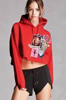 Forever 21 FOREVER 21+ Repurposed Cropped Hoodie