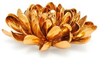 AERIN Dahlia Floral Gilded-porcelain Ornament - Gold