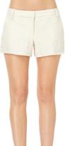 Max Studio Ramie And Linen Doubleweave Shorts