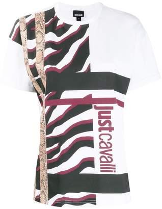 Just Cavalli textured print T-shirt