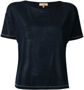 Fay knitted cropped T-shirt - women - Silk - M