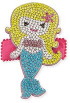 Bari Lynn Girls' Rhinestone Mermaid Hair Clip, Yellow/Blue
