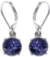 Gloria Vanderbilt Purple Crystal Silver-Tone Drop Earrings