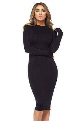 Hot & Delicious Black Bodycon Dress