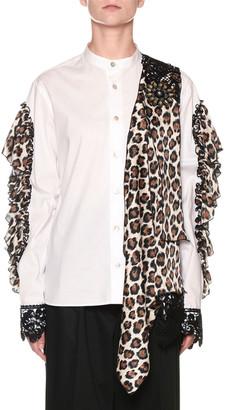 Antonio Marras Leopard-Print Collage Open-Arm Shirt