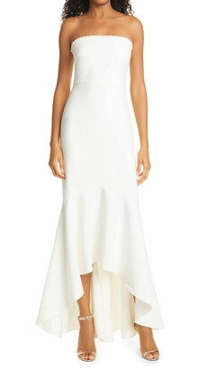 LIKELY Norma Strapless High/Low Mermaid Gown