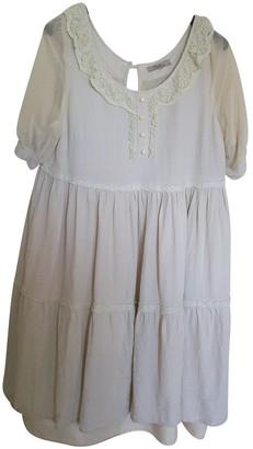 Darling Ecru Cotton Dress for Women
