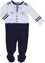 Petit Lem My Little Ship Playwear Footie (Baby) - Blue-9 Months