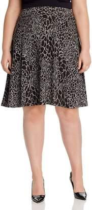Leota Plus Animal Print A-Line Skirt