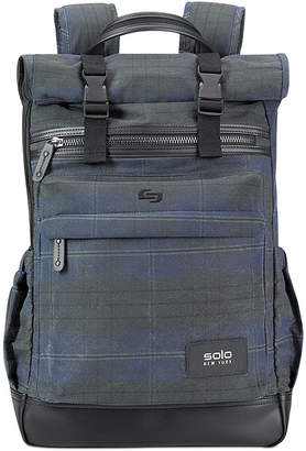 Solo Men Highland Waxed-Cotton Printed Roll-Top Backpack