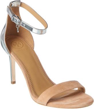 Tory Burch Ellie 85Mm Suede & Patent Sandal
