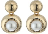 Oscar de la Renta Pearl C Earrings