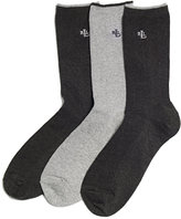Lauren Ralph Lauren Women's Ribbed Cotton Trouser 3 Pack Socks