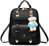 Hynbase Retro Women Fashion Mini PU Leather Shool Bag Casual Backpack Shoulder Bag
