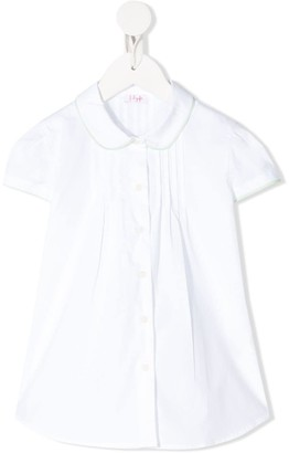 Il Gufo Pleated Contrast-Trimmed Shirt