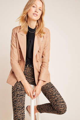 Blank NYC Blanknyc Angela Faux Leather Double-Breasted Blazer