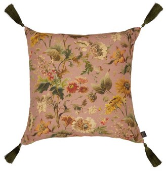House of Hackney Avalon Large Floral-print Linen-blend Cushion - Pink