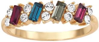 Brilliance+ Brilliance Emerald Cut Multicolor Ring with Swarovski Crystals