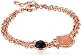 """Fossil Crystal Rose Gold-Tone Bracelet, 7"""" + 1.5"""" Extender"""