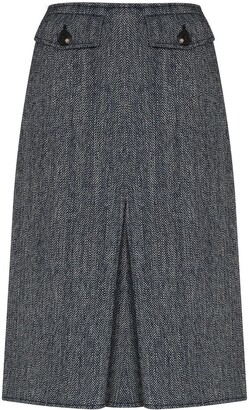 Victoria Beckham High-Waisted Pleated Skirt