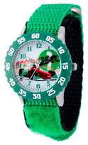Cars Boys' Disney Stainless Steel with Bezel Watch - Green