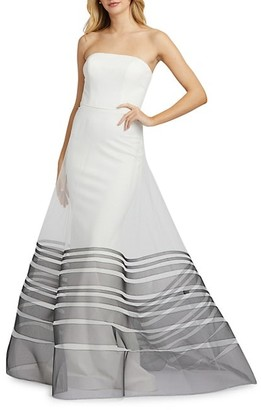 Mac Duggal Strapless Organza Gown