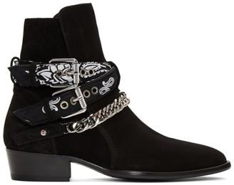 Amiri Black Bandana Buckle Boots